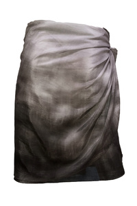 Night Walk Monochrome Silk / Cotton Wrap Skirt