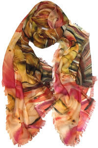 Calla Lily Wool Scarf