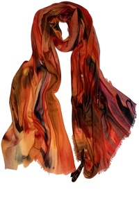 Fire Fine Wool Scarf